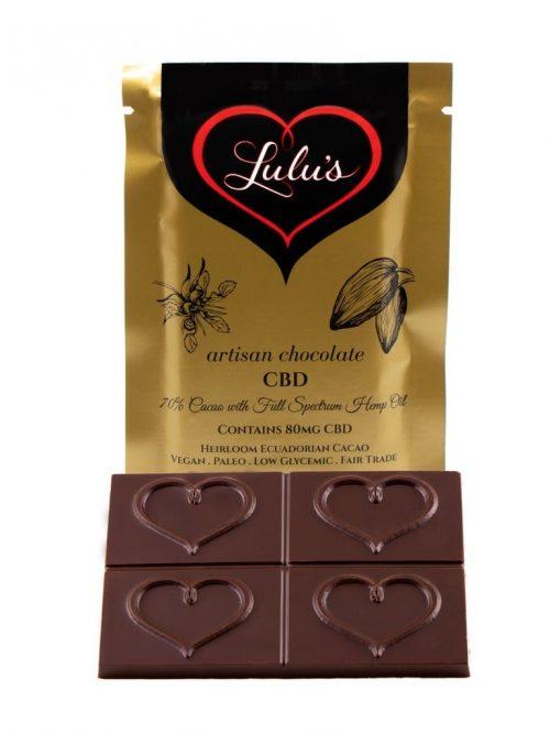 Full Spectrum CBD Chocolate 80MG | Lulu's Chocolate